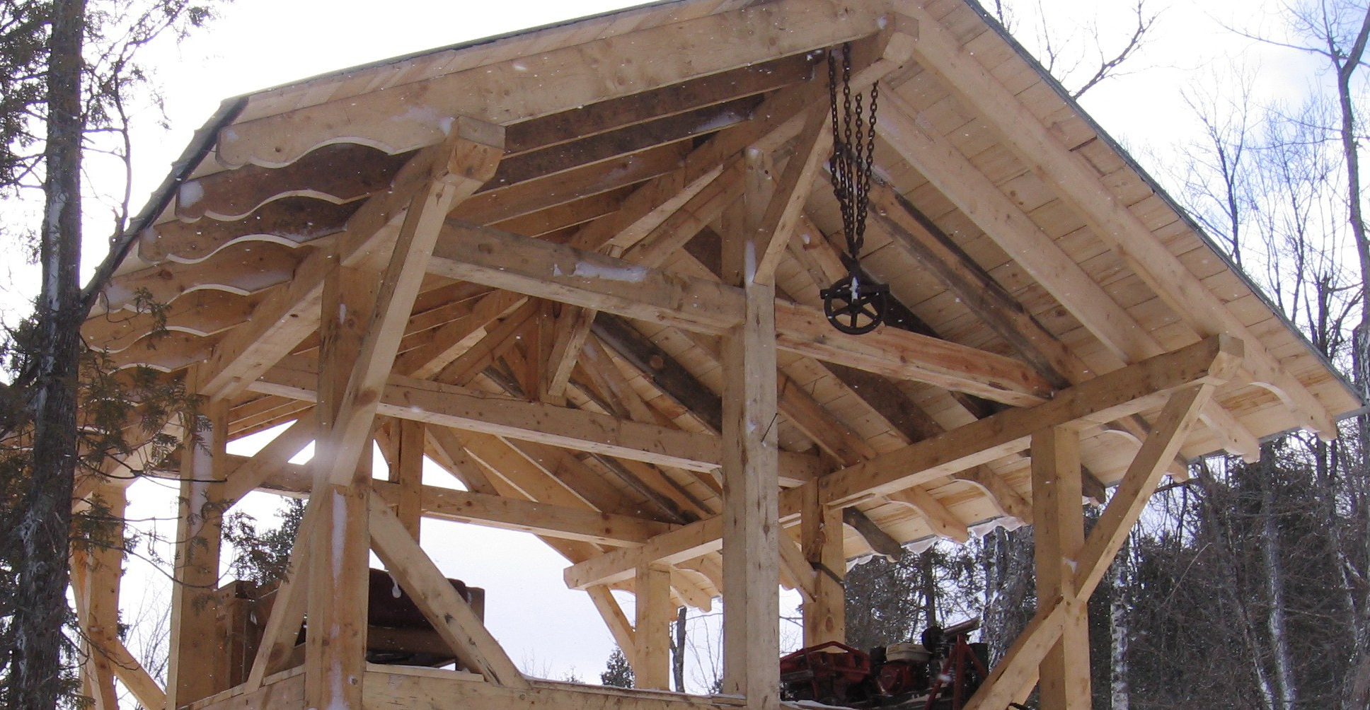 Timber Framing From Scratch on The North Shore | Sonju Lake